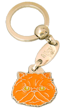 Persian cat red - pet ID tag, dog ID tags, pet tags, personalized pet tags MjavHov - engraved pet tags online